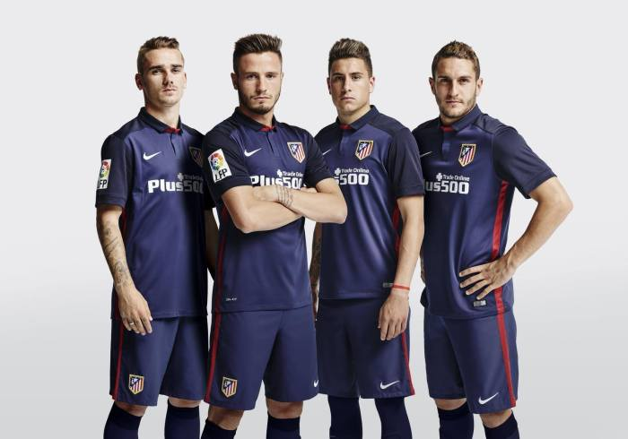 Segunda camiseta do Atlético de Madrid 15-16 (Nike)