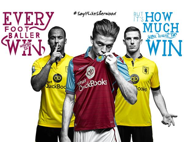 Os kits do Aston Villa para 15-16