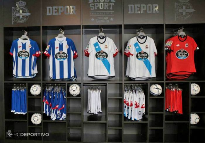 Camisetas 1, 2 e 3 do Dépor 15-16 (Lotto)