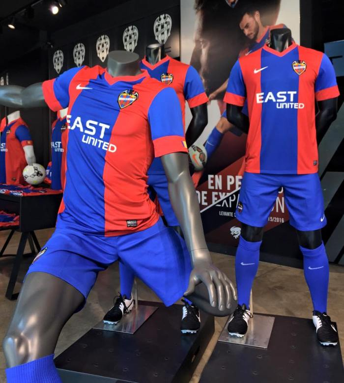 Camiseta 1 do Levante para 15-16 (Nike).