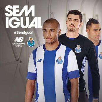 Camisola principal do Porto. Da New Balance. O goleiro brasileiro Fabiano foi negociado.