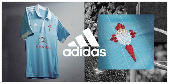 Maneira a nova camiseta principal, celeste, do Celta de Vigo (Adidas).