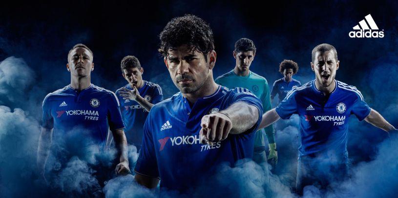 Home kit: camiseta principal do Chelsea 15-16