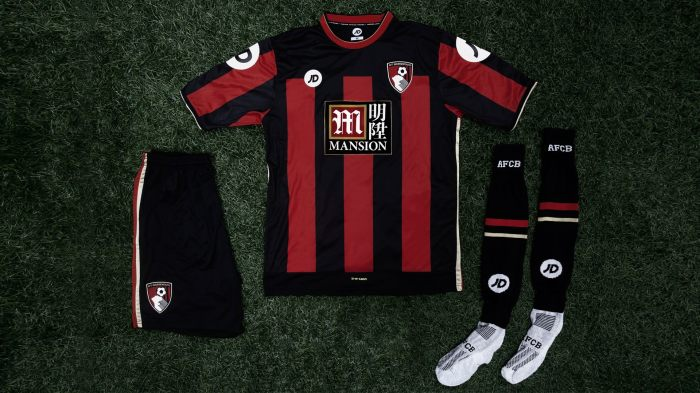 O uniforme da estreia do Bournemouth na Premier League.