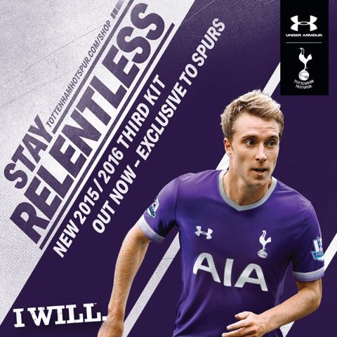 Third kit THFC. A terceira camisa dos Spurs pra 2015-16. Under Armour.