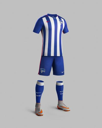 Camisa principal do Hertha Berlin, by Nike.