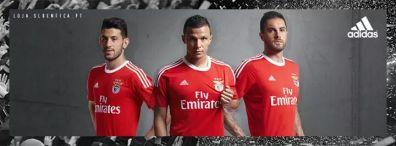 Camisola principal do Benfica. Adidas.