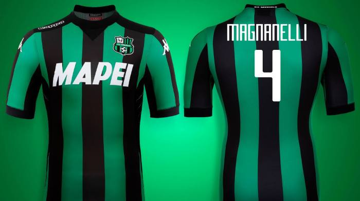 Prima maglia do Sassuolo 15-16. Kappa.