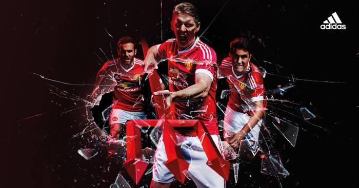 A nova camisa dos red devils. 2015-16. Adidas.