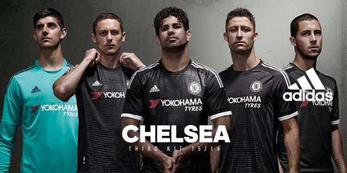 Terceiro kit do Chelsea 15-16.
