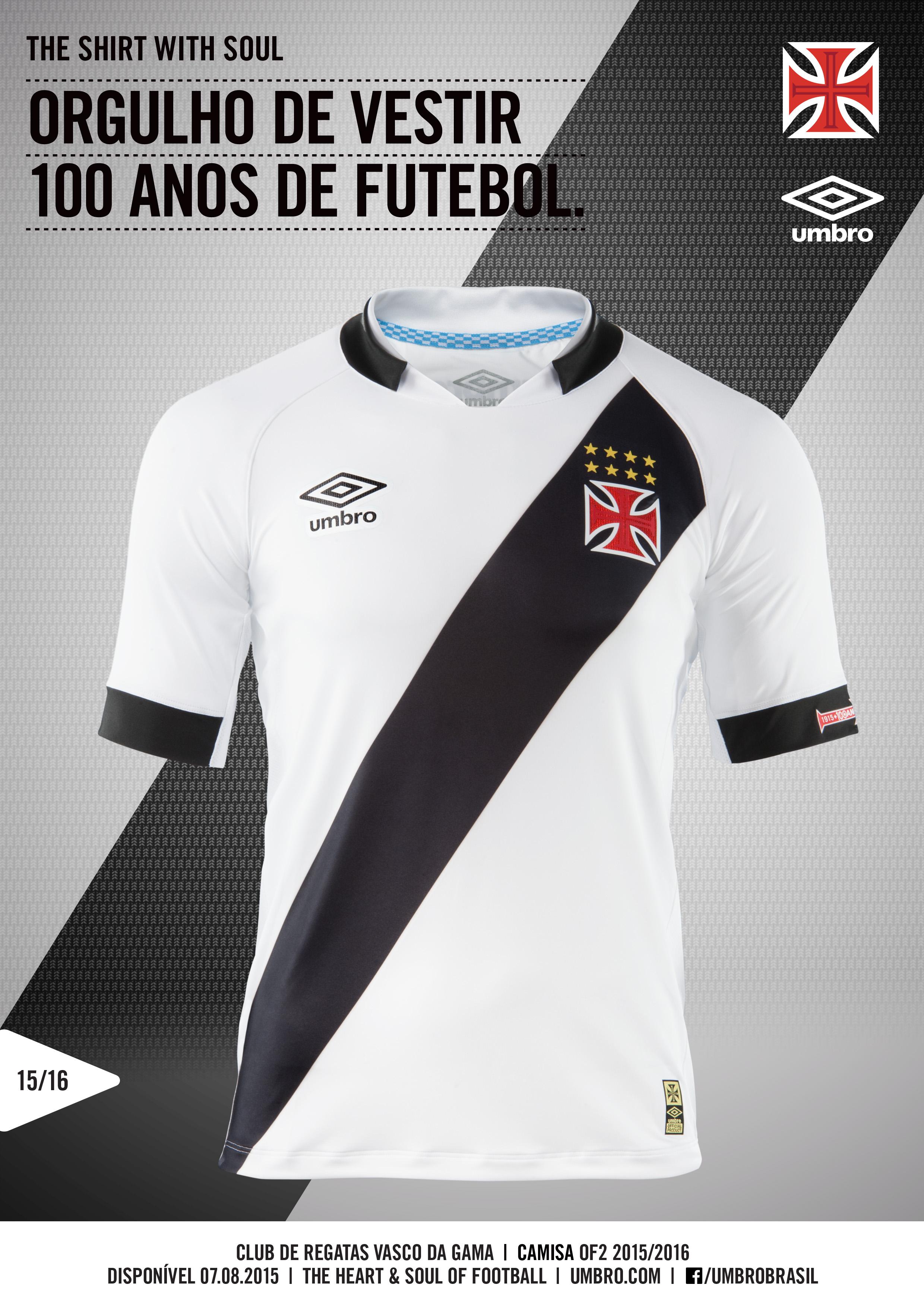 c6888c9a31 Camisa 1 do Vasco 2015-16. … e a 2 ...