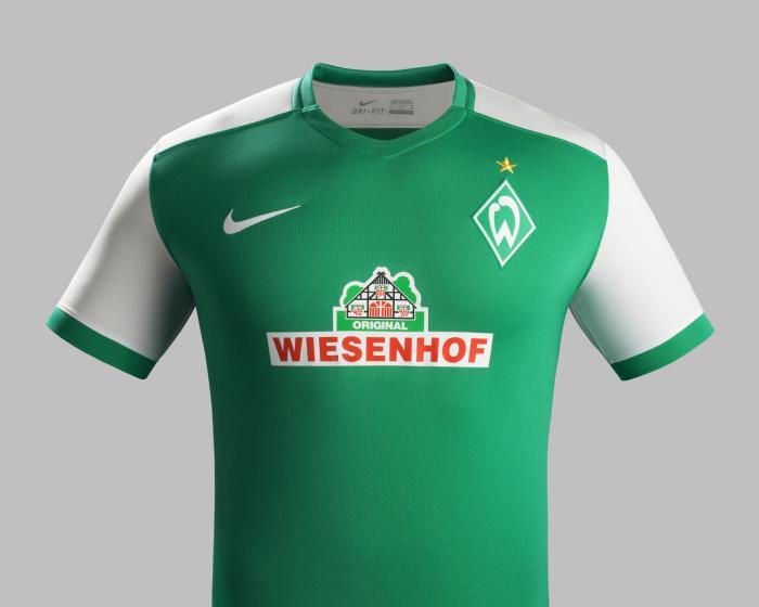 Camisa principal do Werder Bremen 15-16. Nike.