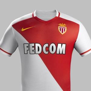 Camisa principal do Monaco 2015-16.