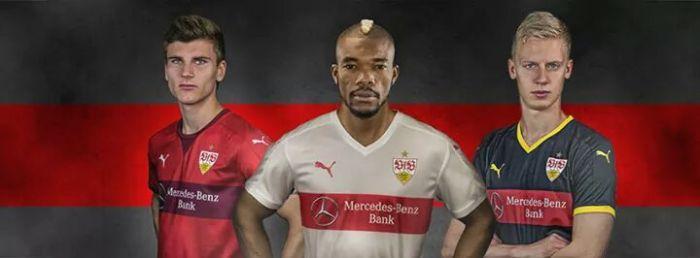 As camisas do Stuttgart pra 2015-16. Da Puma.
