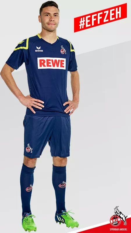 Terceira camisa do Colônia (FC Köln) pra 15-16. Confeccionada pela Erima.