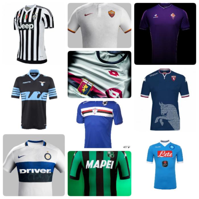 Collezione Serie A: as #maglias dos times italianos para2015-16.