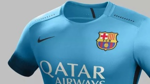 Terceira camisa do Barça para 2015-16.