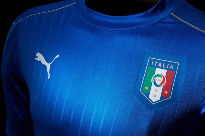 Uniforme da Itália para a Euro 2016, da Puma.