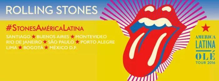 Olé! Os Rolling Stones vão tocar em 8 estádios da América do Sul em2016.
