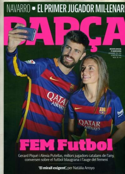 Capa da Revista Barça, janeiro de 20016 (reprodução)
