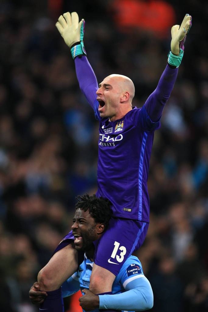 Willy Caballero, o herói da decisão. https://www.facebook.com/mcfcofficial