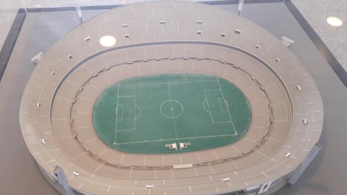 Maquete da velha #catedral da Luz, pnde o Benfica jogo entre 1954 e 2003.