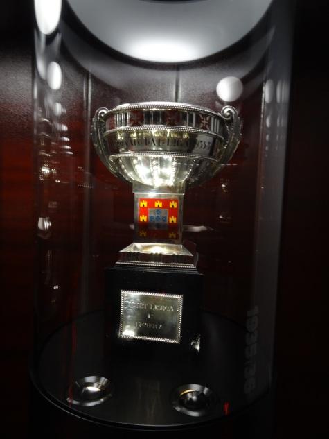 Taça do primeiro campeonato português (Primeira Liga) conquistada pelo SB: 1935-36.