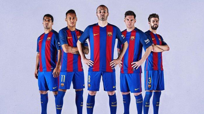 A #samarreta do Barça 2016-2017, da Nike.