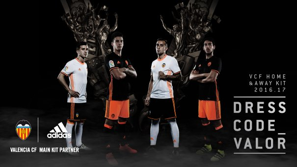 As novas camisas do Valencia (2016-17)