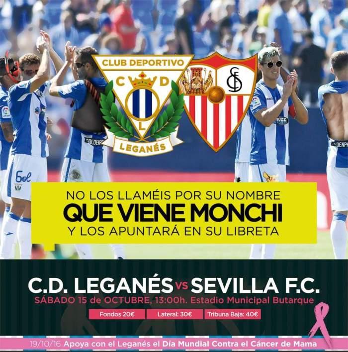 Poster urbano para Leganés x Sevilla: facebook.com/ClubDeportivoLeganes/
