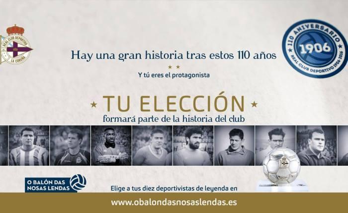 Dépor elege Top 10 entre seus jogadores históricos. #OBalónDasNosasLendas