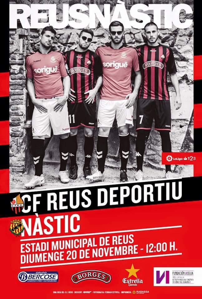 Poster criado pelo pessoal do Reus para o clássico contra o Nàstic de Tarragona, pela segundona da Espanha