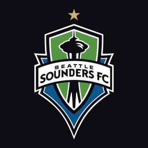 Escudo dos Sounders, já com a estrelinha do campeonato de 2016