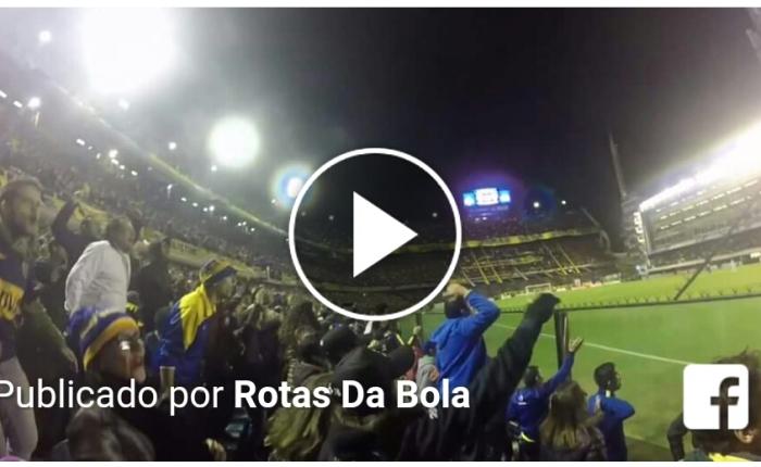 Episódio 3 do #RotasDaBola mostra La Bombonera em noite deLibertadores.