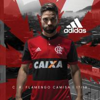 Diego e camisa 1 do Flamengo 2017