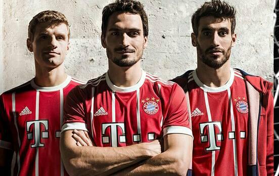 Bayern 2017-18 com visual retrô. E sem Lahm e XabiAlonso.