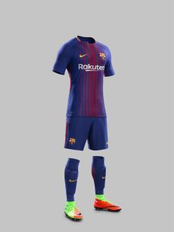 Home Kit do Barça 17-18