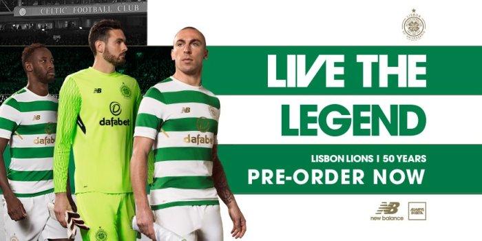 A camisa do Celtic para 2017-18, inspirada no manto dos Leões de Lisboa,1967.