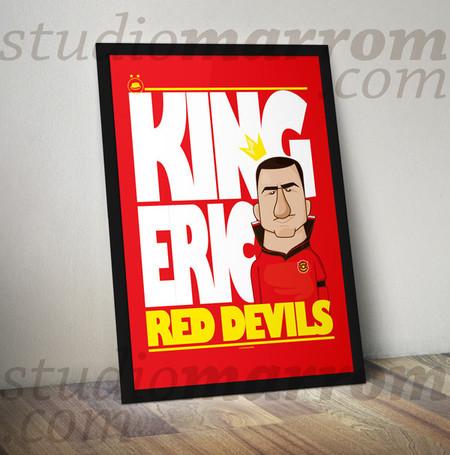 Para os red devils, Cantona é King Eric! Studiomarrom.com