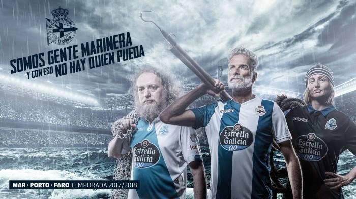 Novas camisetas do Dépor, cheias de referências a A Coruña e àGalícia.