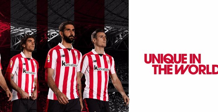 Os primeiros uniformes New Balance para o Athletic Club.