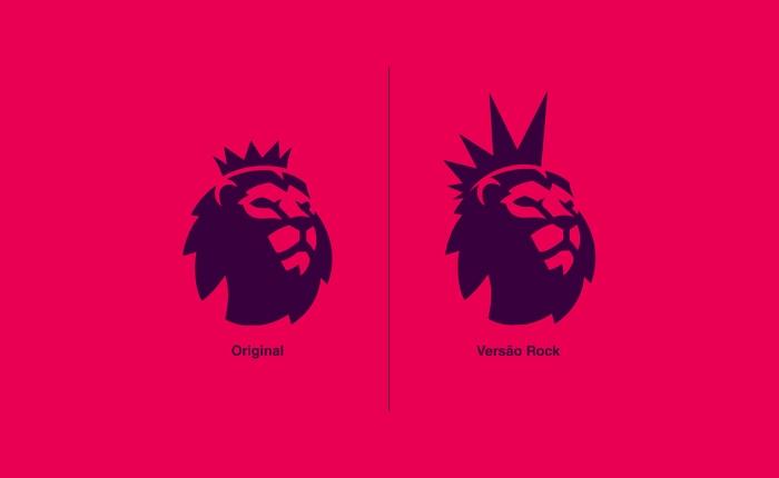 Premier League, Rock Edition. Designer brasileiro junta futebol e rock numa coleção imaginária decamisas.
