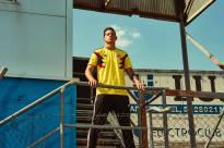 James e a camiseta local da seleção cafetera para 2018.