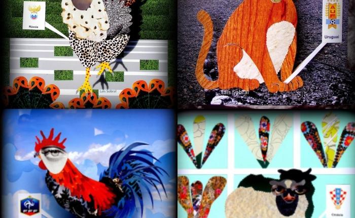 #FlashbackFriday: mascotinhos criados por Lais Sobral para seleções, em2014.