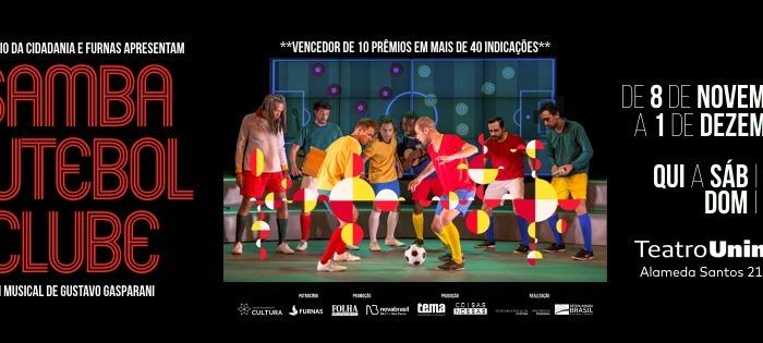 """""""Samba Futebol Clube"""": em cartaz em São Paulo até 1º dedezembro."""